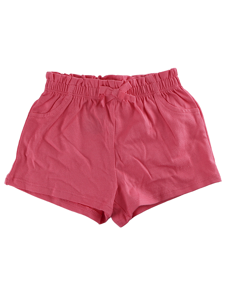 First Impressions Baby Girls Solid Ruffle-Waist Coral Sunrise Shorts, 3-6 Months