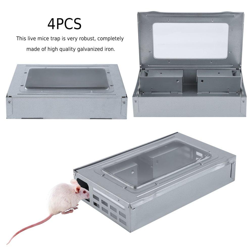 4PCS Mouse Live Trap Boxes Multi Catch Mice Continuous Ef...
