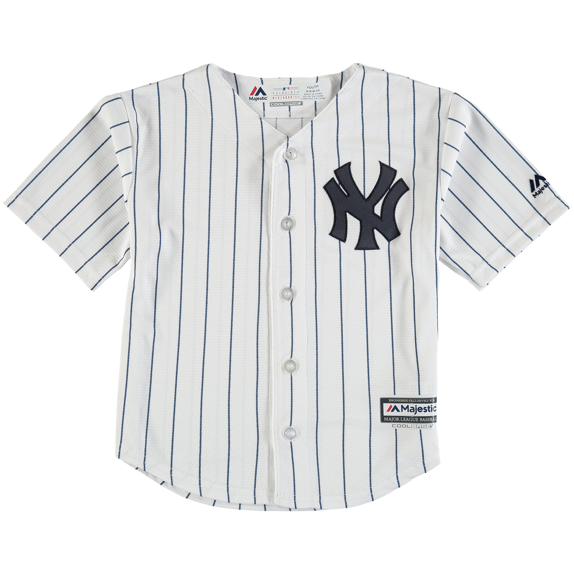 New York Yankees Majestic Preschool Official Cool Base Team Jersey - White