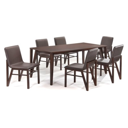New Spec Afton 7 Piece Dining Table Set