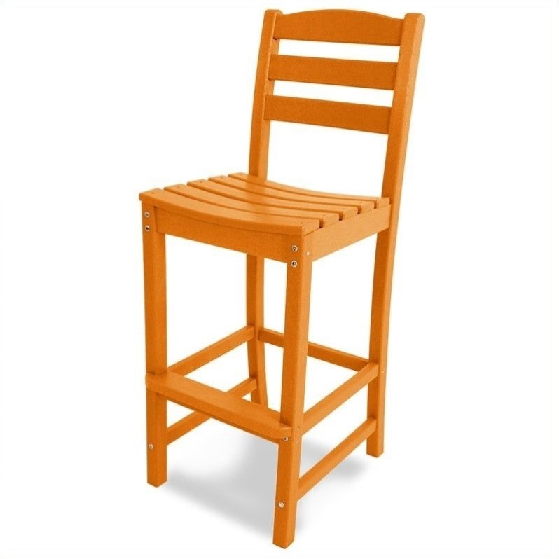 POLYWOOD® La Casa Cafe Recycled Plastic Bar Height Side Chair
