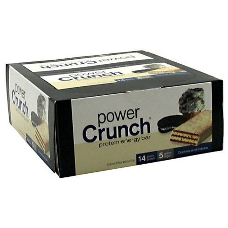 BNRG Power Crunch Protein Bars, Cookies & Cream, 1.4 Oz (Innerpack of 12)