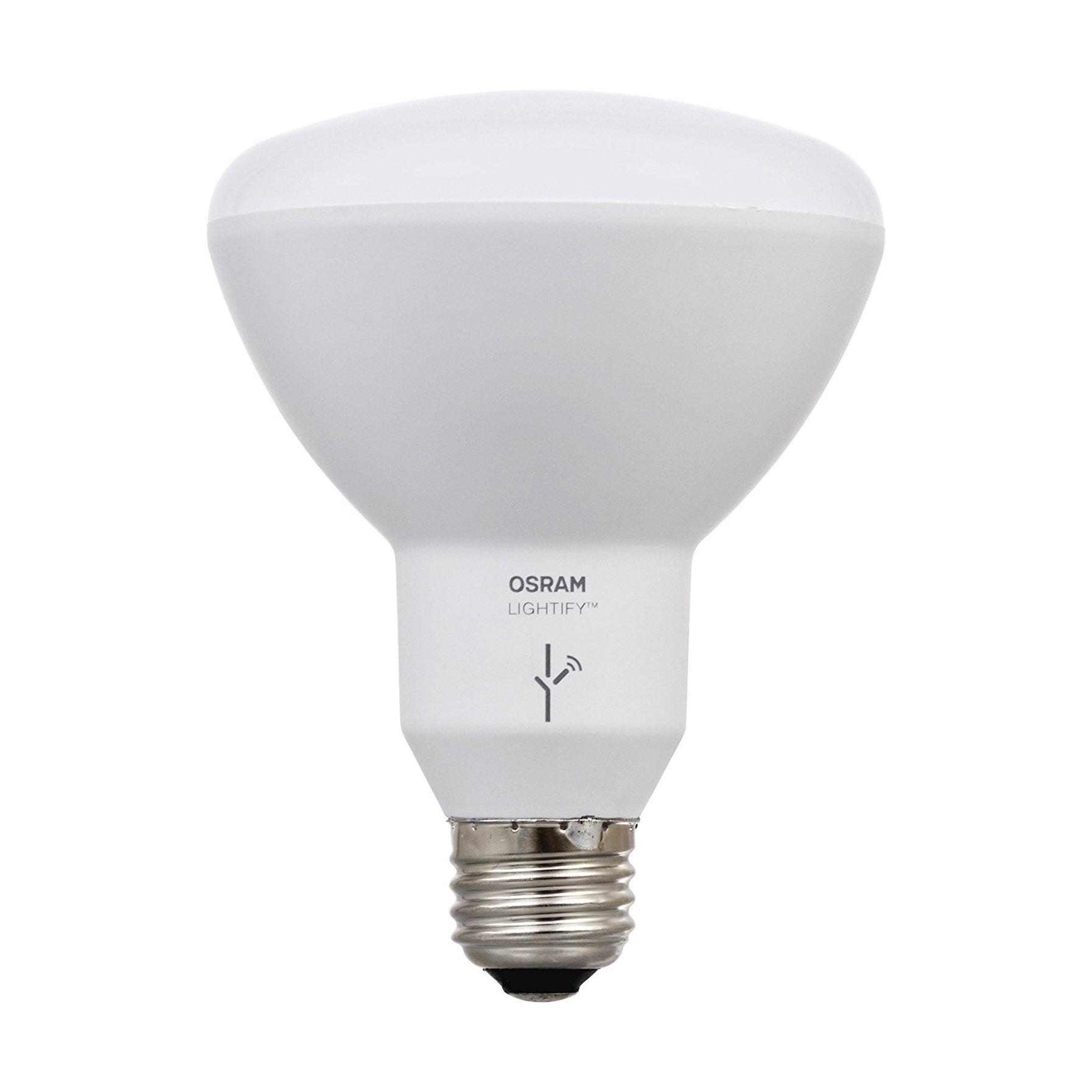 Sylvania Osram Lightify Smart Home 65W BR30 White/ Color LED Light Bulb (6 Pack) - image 4 of 9