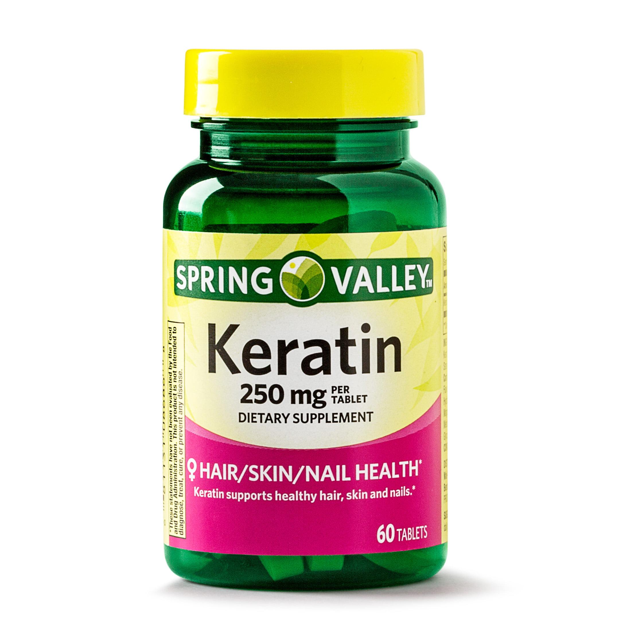 Spring Valley Keratin Tablets, 250 mg, 60 Ct