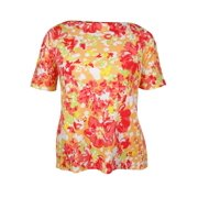Charter Club Women's Boat Neck Floral Print Top