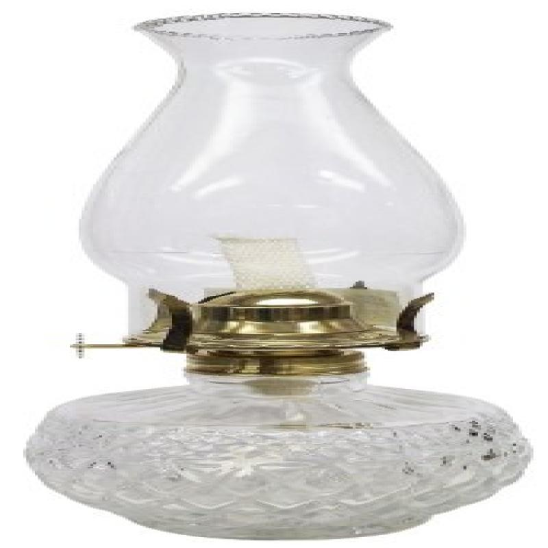 Glo Brite by 21st Century L399CL Diamond Lite Clear Glass Oil Lamp by
