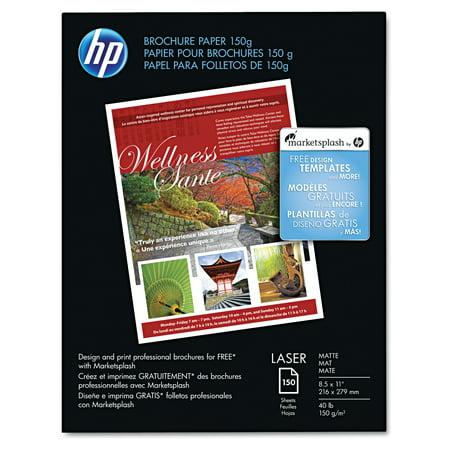 150 Halloween Printables (HP Color Laser Brochure Paper, 98 Brightness, 40lb, 8-1/2 x 11, White, 150 Shts/Pk)