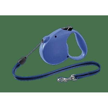 flexi Retractable Dog Leash (Cord), 16 ft, Medium, Blue