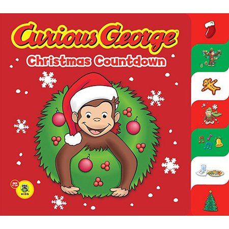 Curious George Christmas Countdown (Board Book) (Christmas Day Countdown)