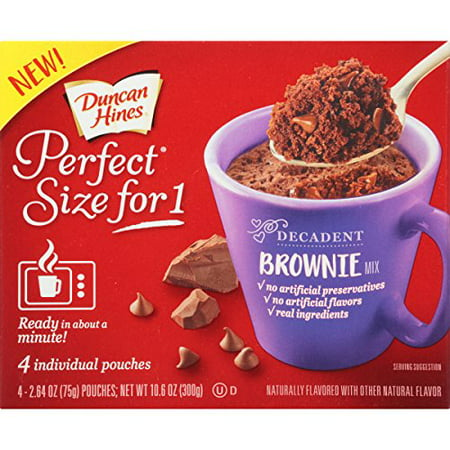 Kosher Brownie - (16 Pouches) Duncan Hines Perfect Size for One Decadent Brownie Mix, 2.64 oz