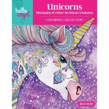 Hello Kitty Halloween Coloring Pages To Print (Hello Angel Unicorns, Mermaids & Other Mythical Creatures Coloring)