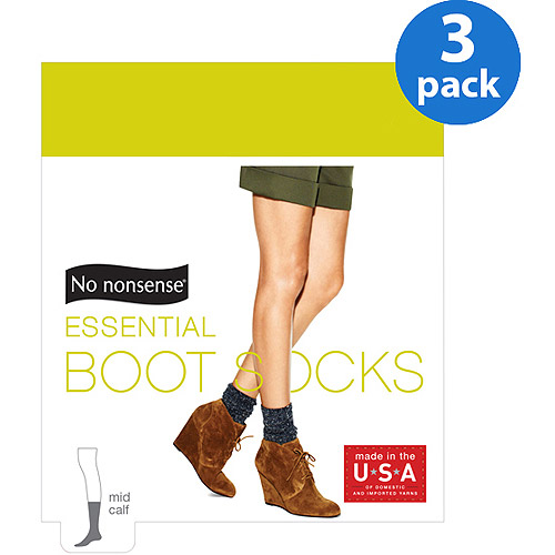 No nonsense Women's Essential Boot Socks, 3 Pair