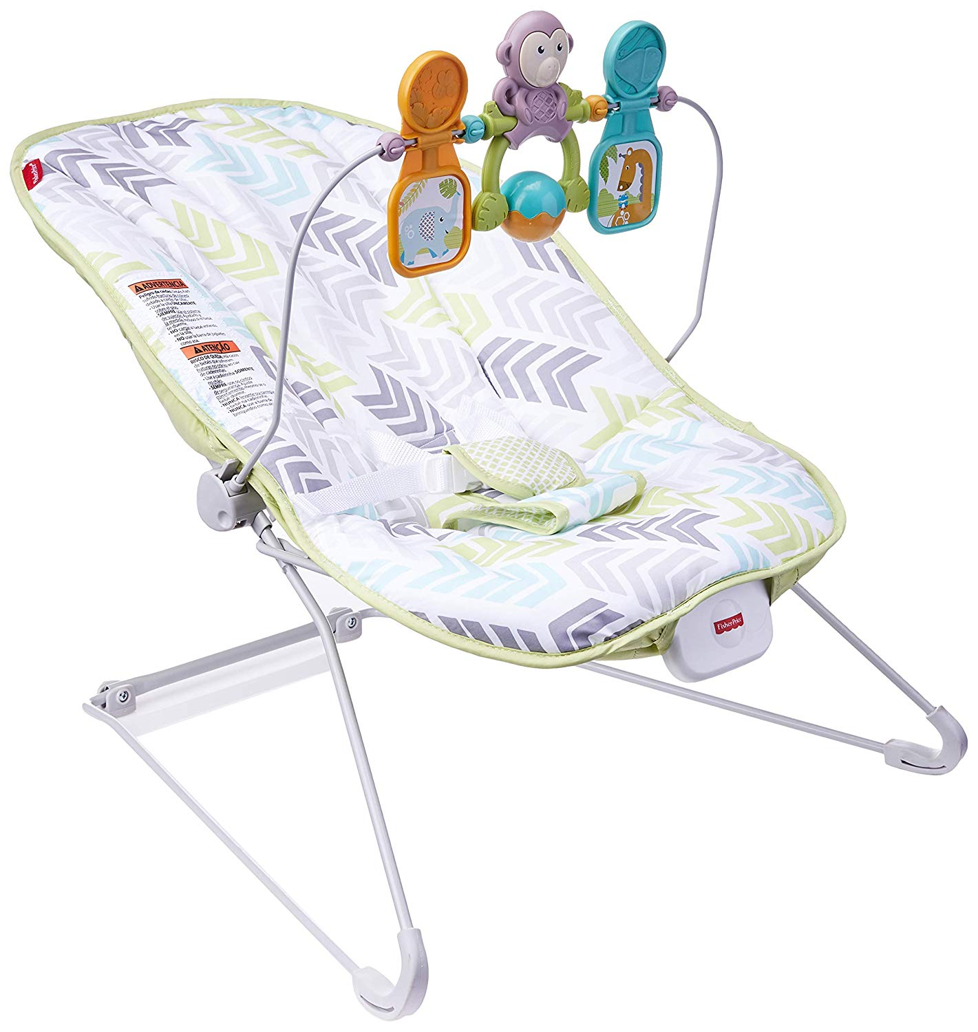 Deluxe Bouncer: Green Blue Grey Fisher Price by Fisher-Price