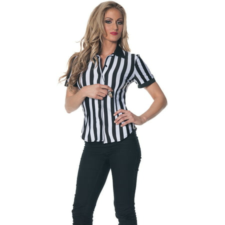 Referee Shirt Adult Halloween Costume (Referee Halloween Costumes)