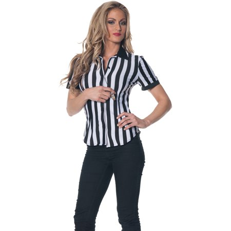 Referee Shirt Adult Halloween Costume - Referee Costumes For Women