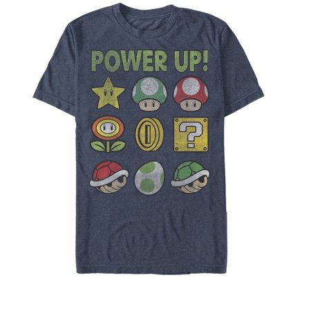Nintendo Men's Super Mario Power Up Bingo T-Shirt