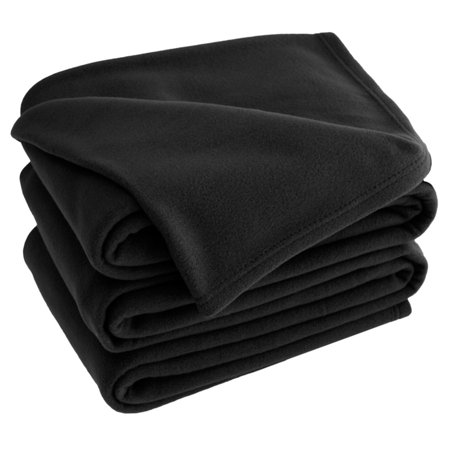 Polar Fleece Solid Bed Blanket by Bare Home
