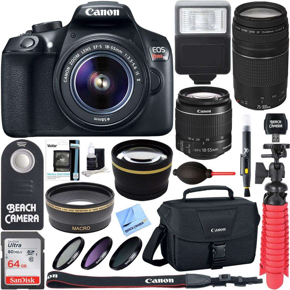 Canon T6 EOS Rebel DSLR Camera w/ EF-S 18-55mm IS II &...