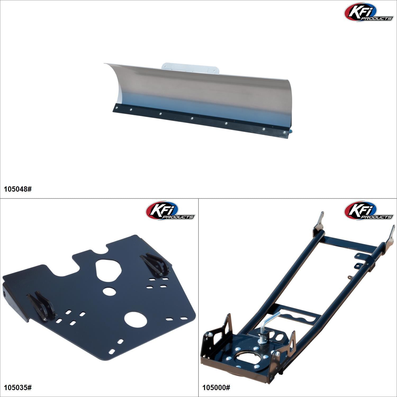 "KFIProducts - ATV Plow kit - 48"", Suzuki Eiger 400 2002-07 Black / Silver  #KK00002339_23"