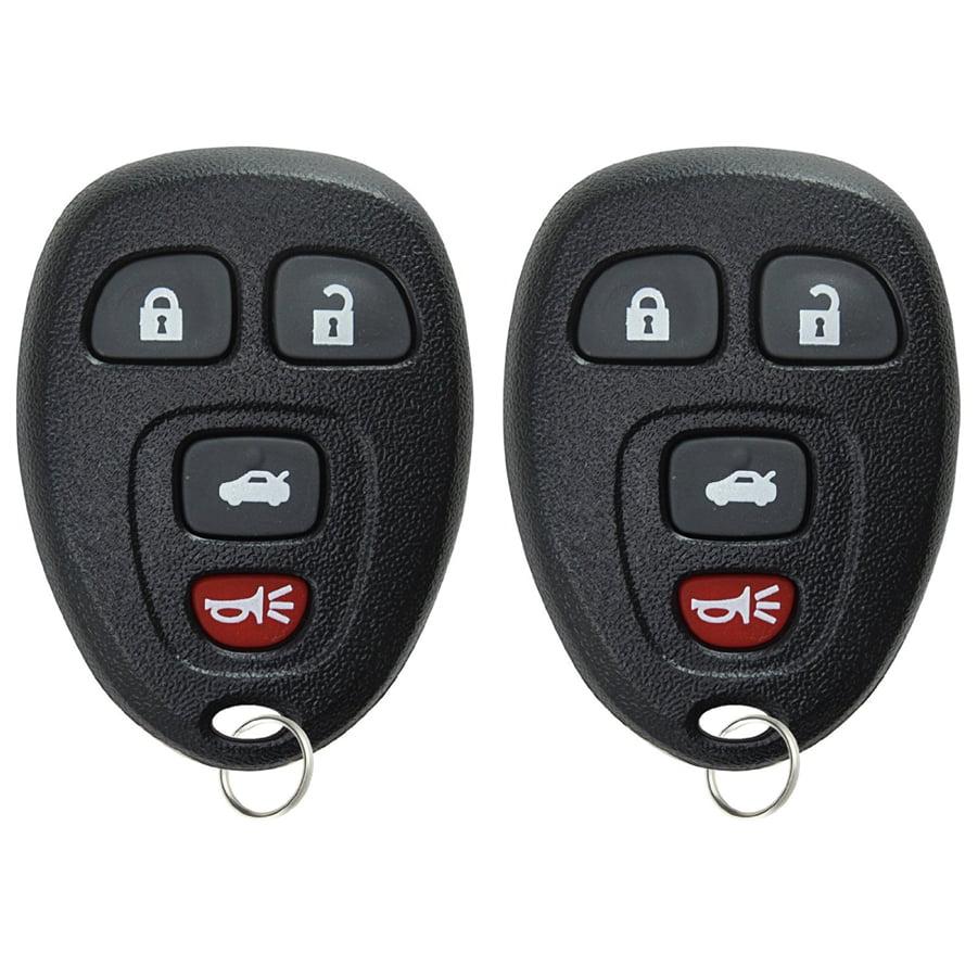 2 PACK KeylessOption Keyless Entry Remote Control Car Key Fob Replacement 15252034 KOBGT04A for Saturn Pontiac Chevy Buick