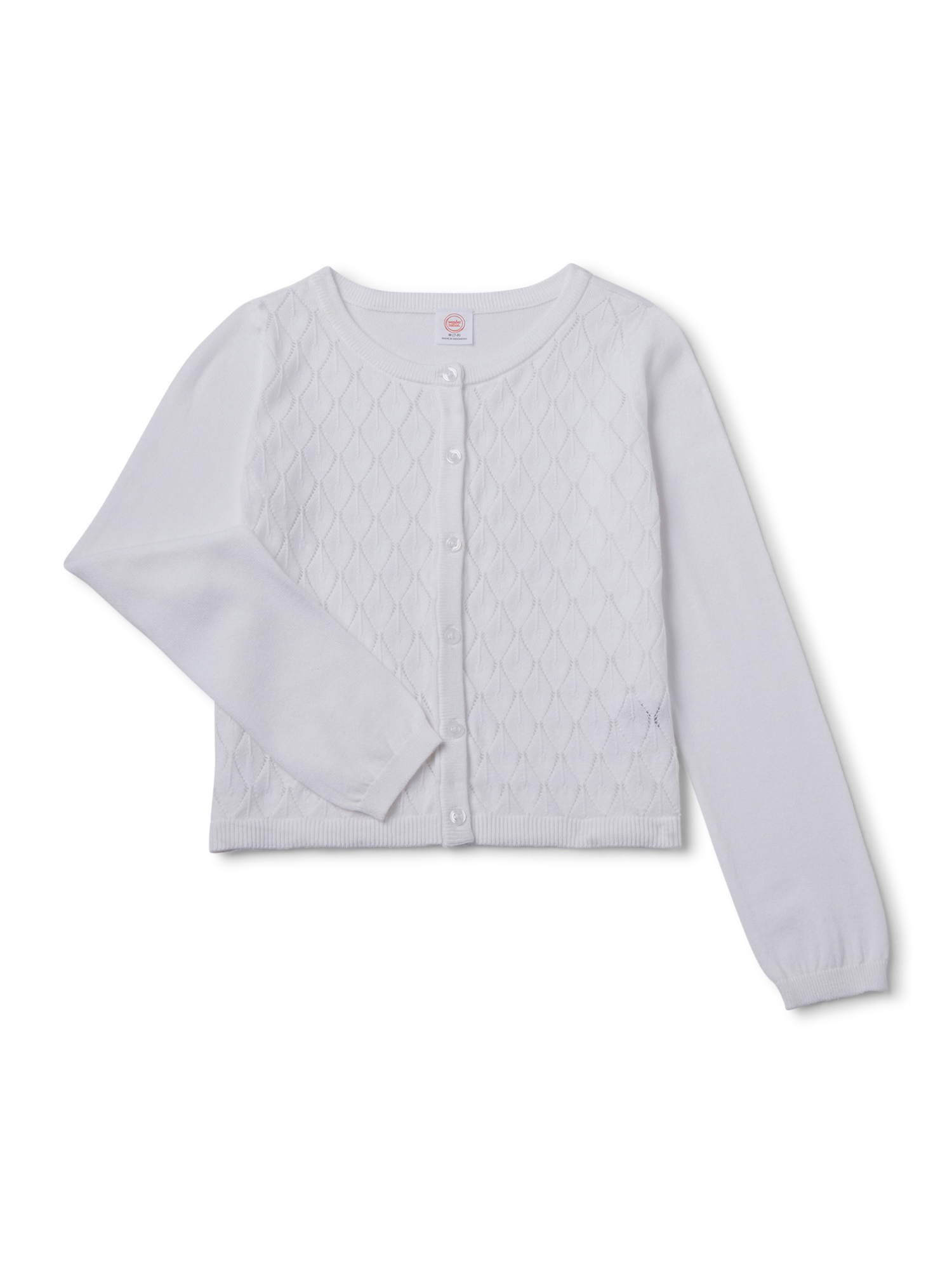 Little Girls Long Knit Round neck Rose Flower Tie Cardigan Sweater Sweatshirt Be the first to review this item