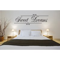 Sweet Dreams Wall Art Vinyl Decal Decor Bedroom Girls Home Lettering Quote