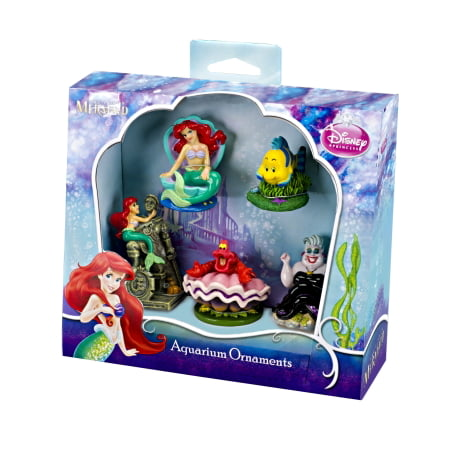 Penn Plax Little Mermaid 5-Piece Mini Resin Ornaments for - Toy Aquarium