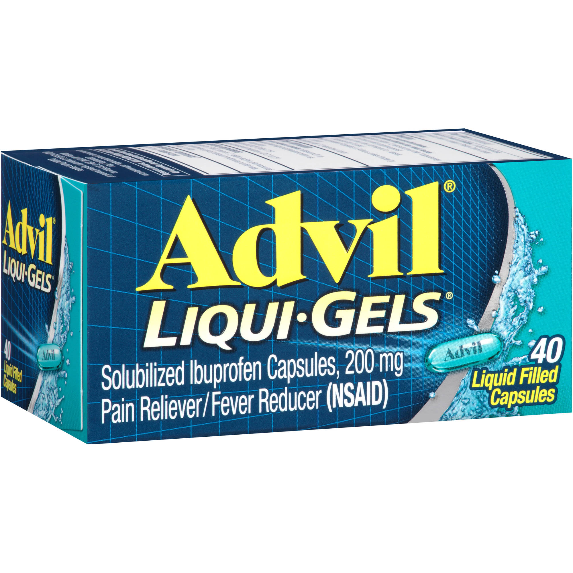 Advil Liqui-Gels Pain Reliever / Fever Reducer (Ibuprofen), 200 mg 40 count