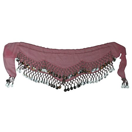 - Kid Size Belly Dance Hip Scarf Wrap Belt Tribal Sash Skirt SILVER Coins Party Favor