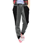 Men's Color Block Panel Big Pockets Fashion Harem Pants