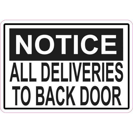 5in x 3.5in Notice Deliveries To Back Door Magnet Magnetic Vinyl Door