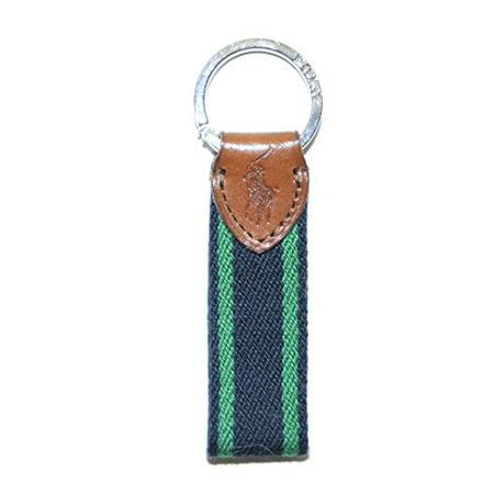 Ralph Lauren - Polo Ralph Lauren Mens Womens Racing Stripe Nautical Leather  Key Ring Green Navy - Walmart.com e83f7ac858e89