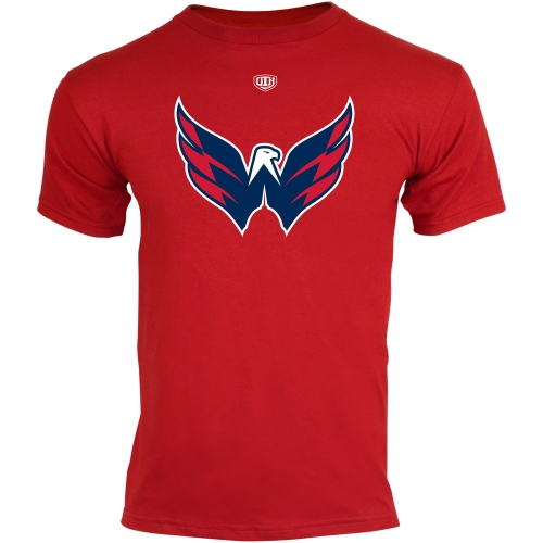 Old Time Hockey Washington Capitals Youth Big Logo Crest T-Shirt Red by Old Time Hockey