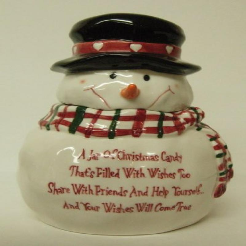 Snowman Candy Jar Bella Casa By Ganz