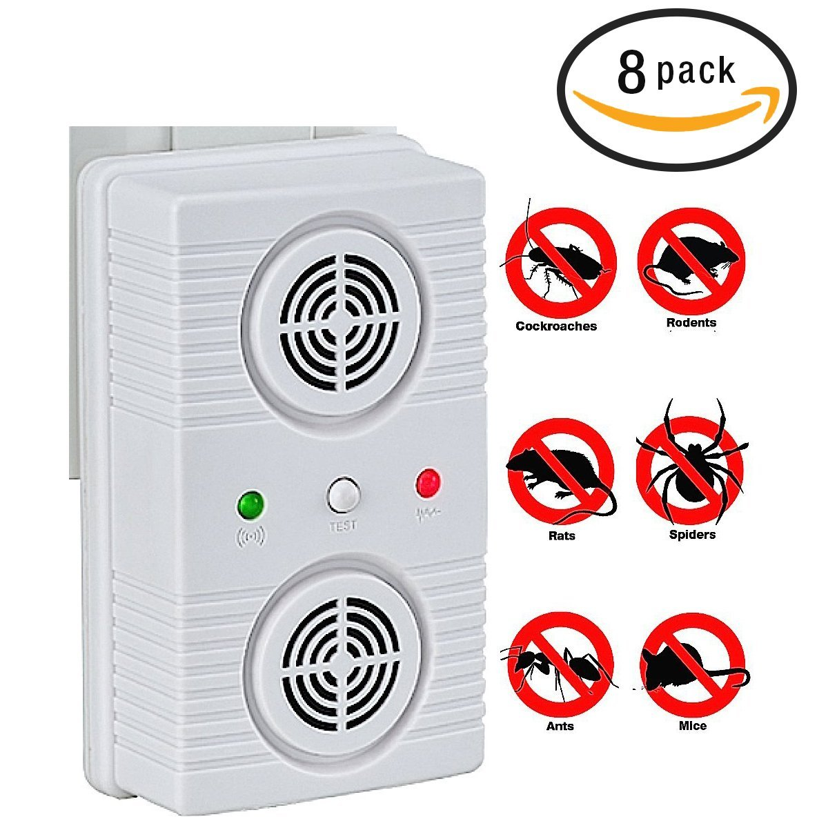 Electronic Ultrasonic Pest Control  Mosquito Cockroaches ...