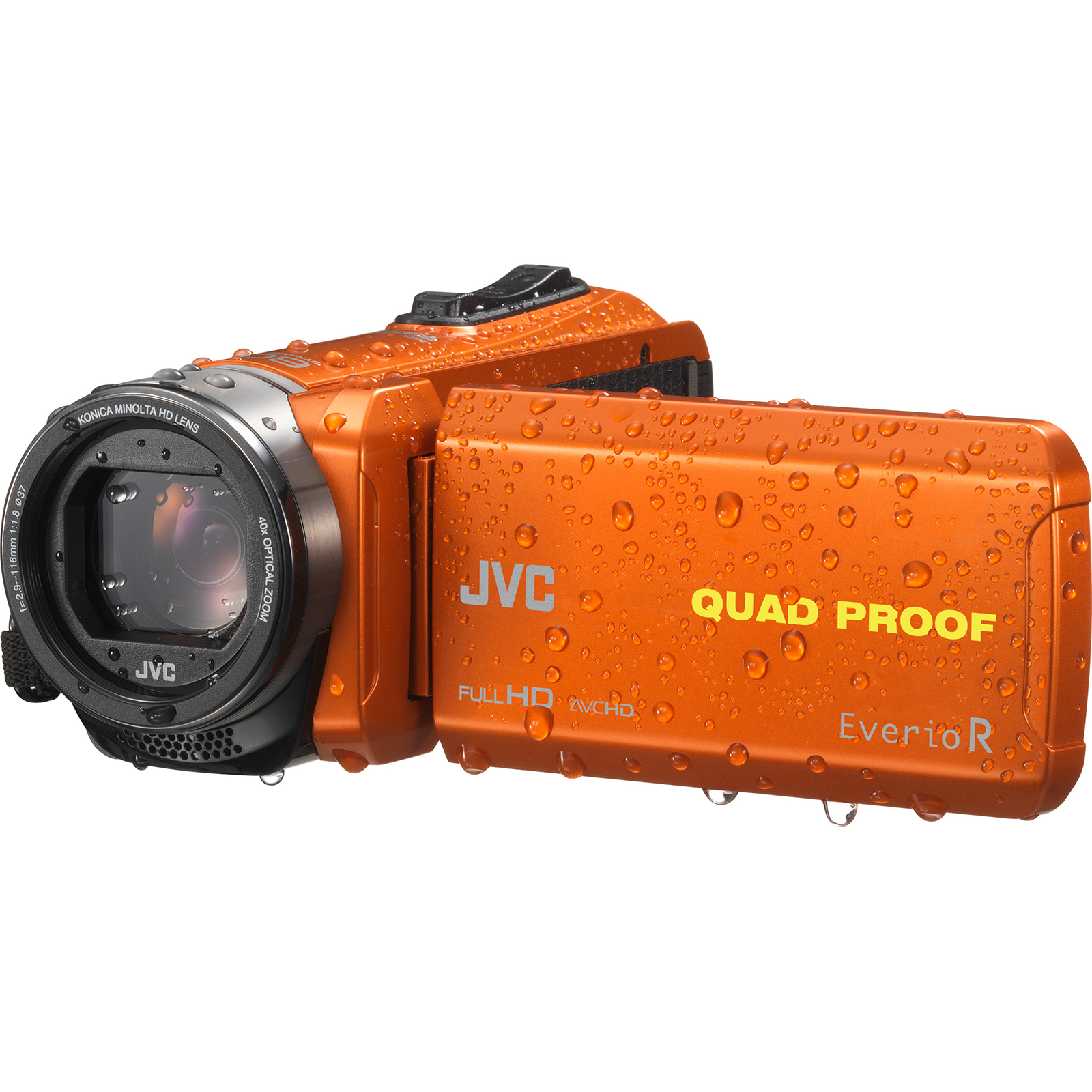 JVC Everio GZ-R440 Quad Proof Full HD Digital Video Camera Camcorder (Orange)