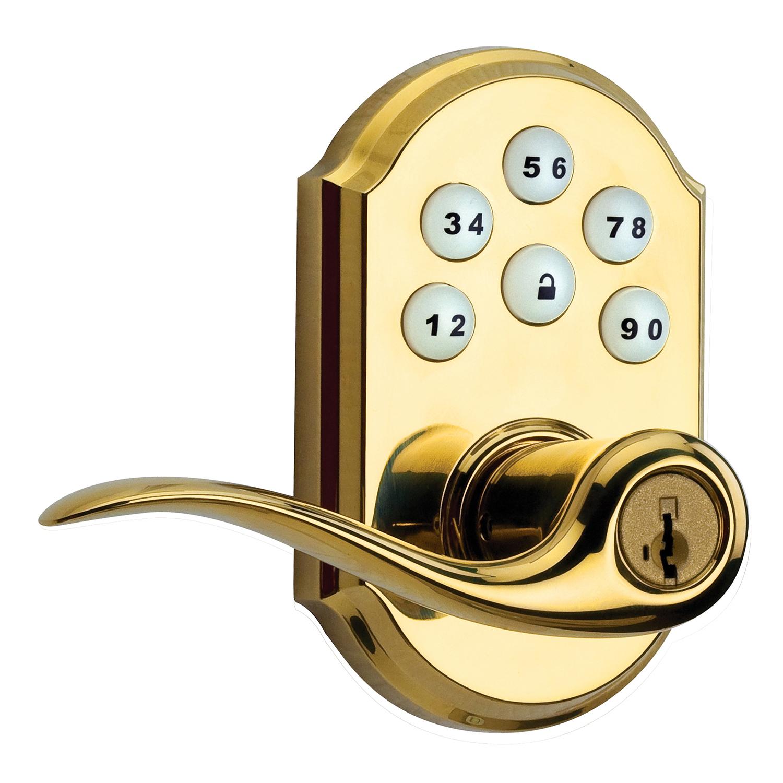 Kwikset 99110-007 Polished Brass SmartCode® Lever