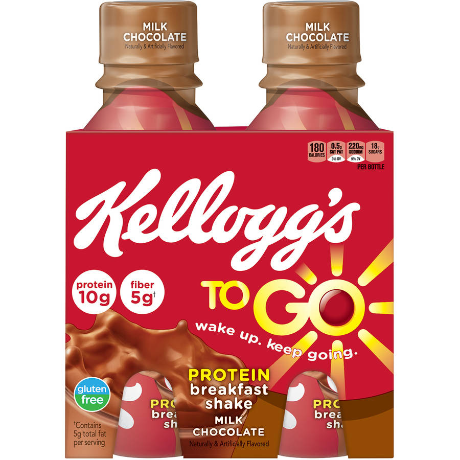 Kellogg's Breakfast To Go Milk Chocolate Shake, 10 fl oz, 4 count