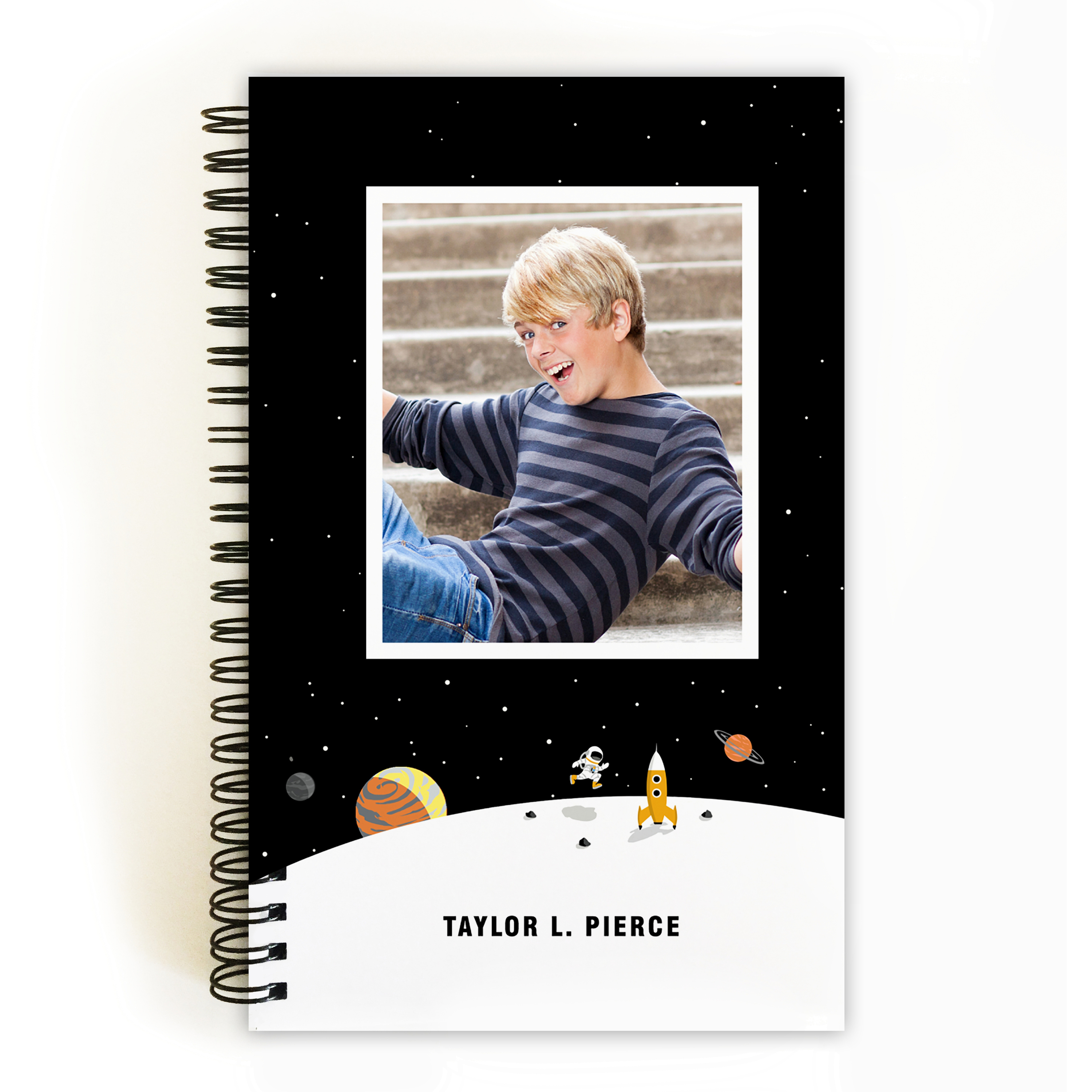 Space Hero - Personalized 5 x 8 Notebook