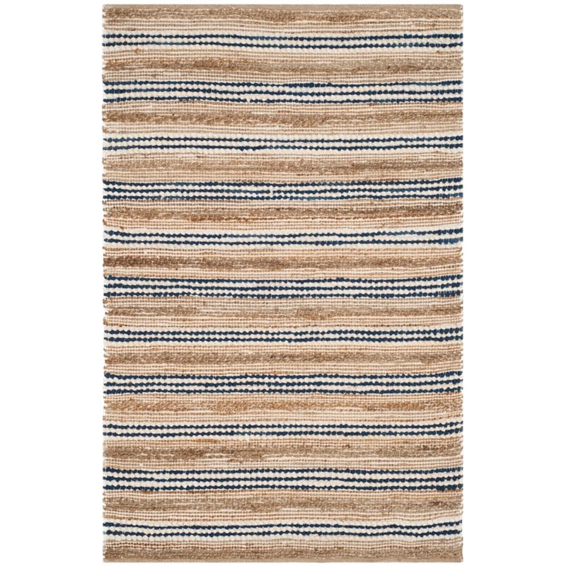 Safavieh Cape Cod 8' X 10' Hand Woven Rug in Natural and Blue - image 1 de 8