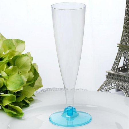 BalsaCircle 12 pcs 4.7 oz. Disposable Plastic Tall Champagne Flutes for Wedding Reception Party Buffet Catering Tableware