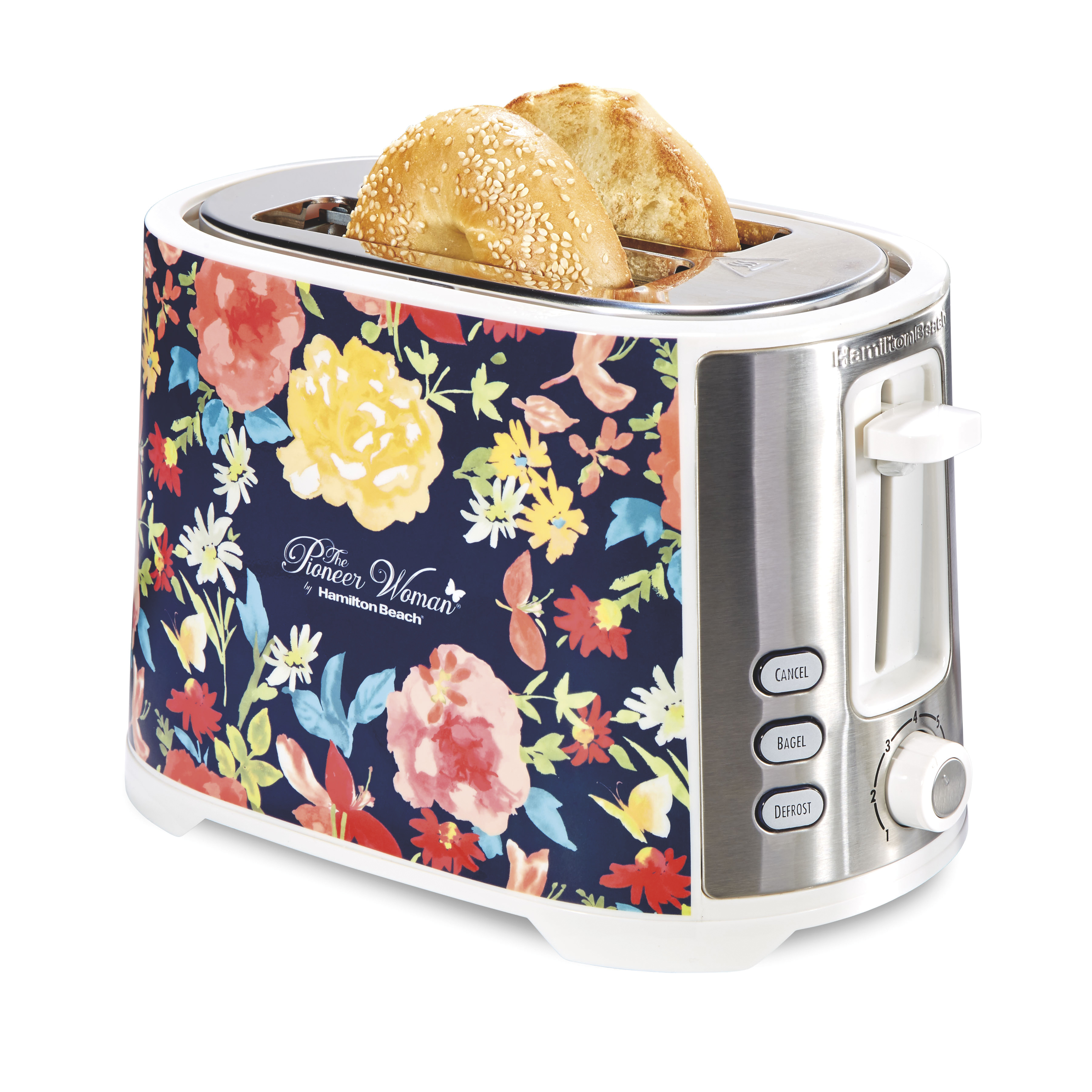 Pioneer Woman Extra-Wide Slot 2 Slice Toaster Fiona Floral | Model# 22638 by Hamilton Beach
