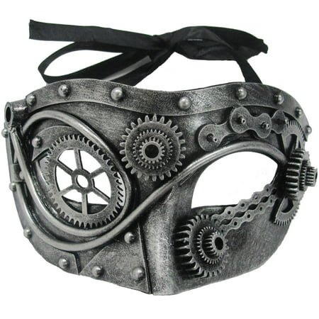 Steampunk Steel Gear Mask Adult Halloween Accessory