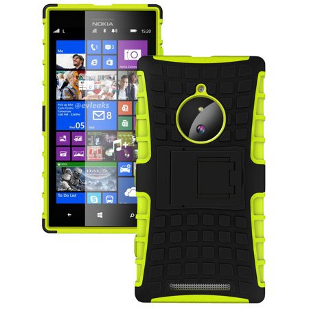 NAKEDCELLPHONE NEON LIME GREEN GRENADE GRIP SKIN HARD CASE COVER STAND FOR NOKIA LUMIA 830 (AT&T T-Mobile Verizon Unlocked) (Phone Cover For Nokia Lumia 830)