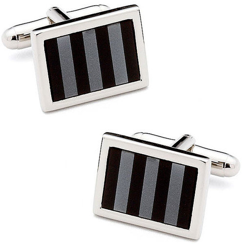 Ox and Bull Striped Mosaic Cufflinks