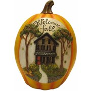 "10.25"" Welcome Fall Pumpkin Decoration"