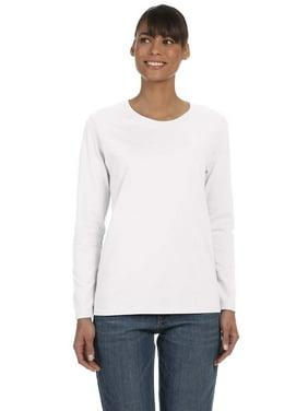 d4a2b6a698c63 Product Image Branded Gildan Ladies 53 oz Long Sleeve T-Shirt - WHITE - XL  (Instant