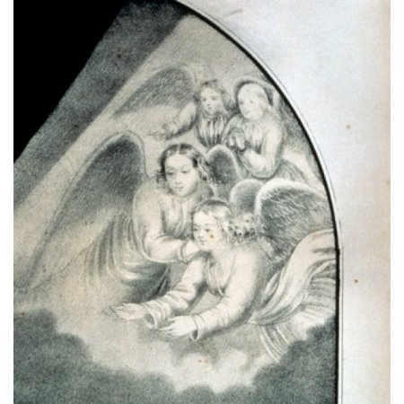 USA Washington DC Library of Congress Believers Vision Mount deal with angels from Currier & Ives color lithograph (1834-1907) Stretched Canvas - Currier and Ives (18 x 24)