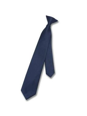 75c732b2b97b Product Image Vesuvio Napoli Boy's CLIP-ON NeckTie Solid NAVY BLUE Color  Youth Neck Tie