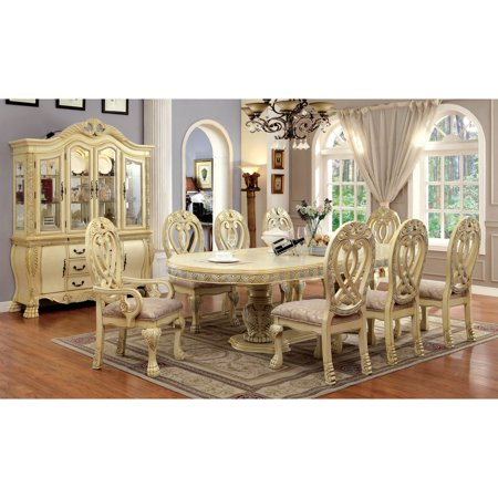 furniture of america grandberry traditional 9 piece dining
